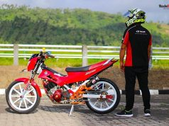 Modifikasi Satria Fu Manado Makin Eye Catching Dengan Part Rcb 2